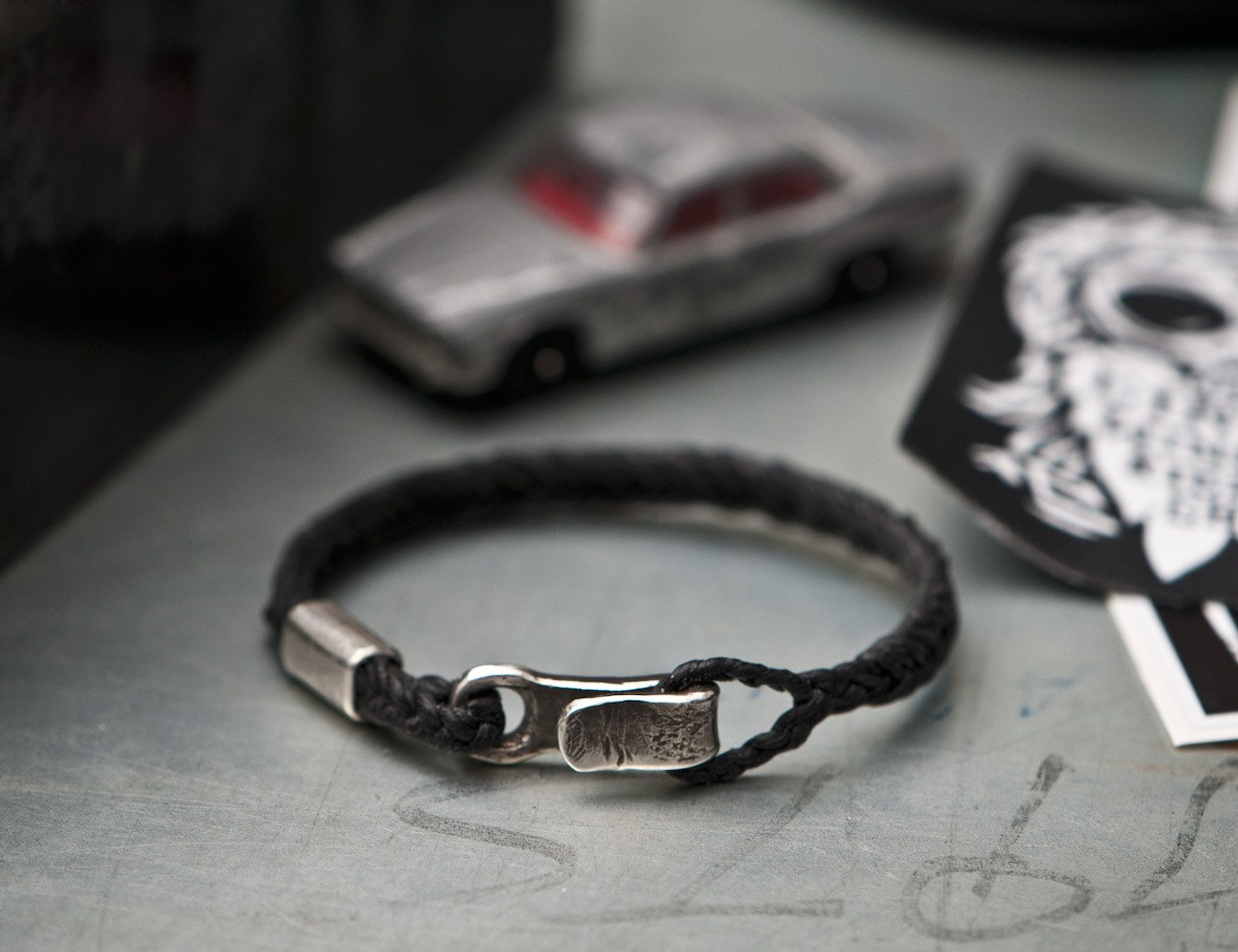 %2349+%26%238211%3B+Men%E2%80%99s+Bracelet+Canvas+Sterling+Silver+Hook+Black
