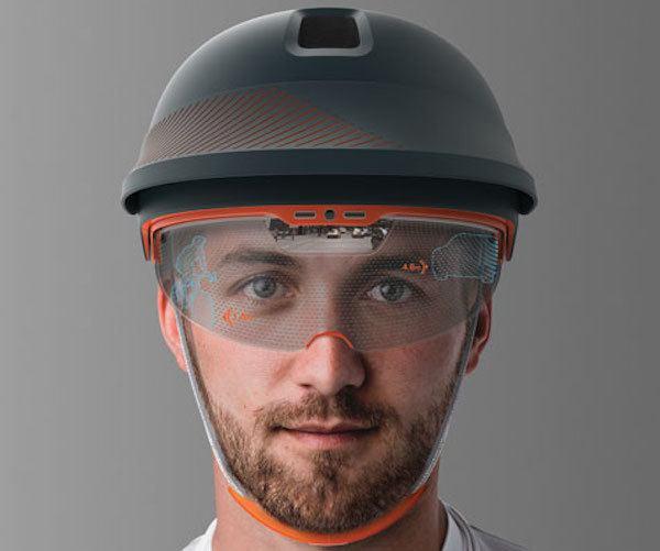 Optic Augmented Reality Cyclist Helmet
