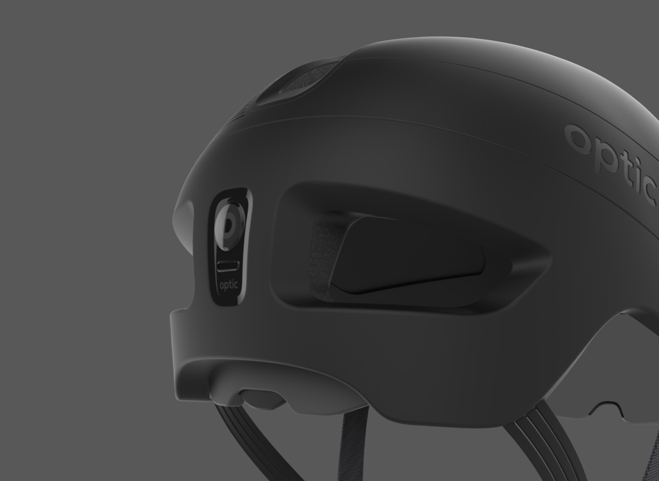 Optic Augmented Reality Cyclist Helmet