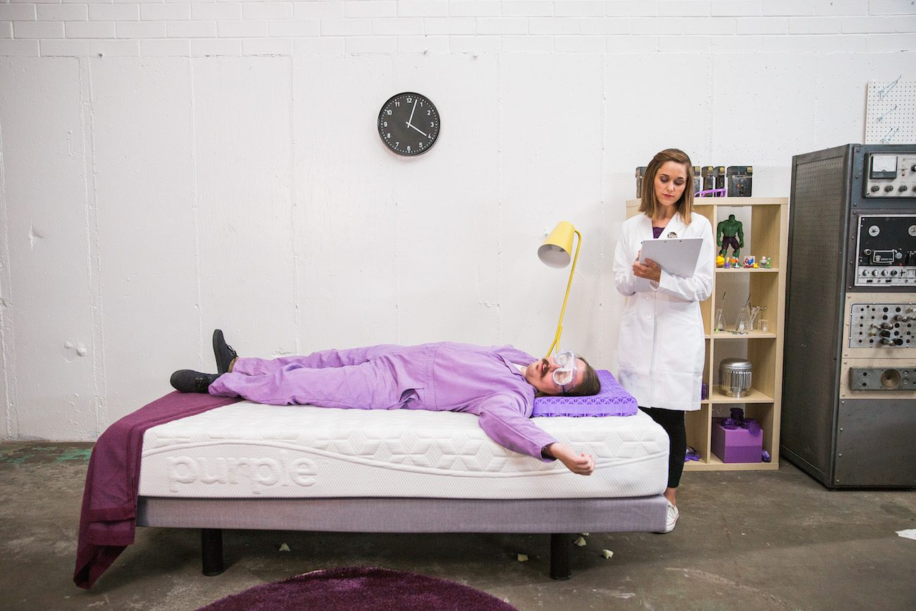 Purple 174 Pillow The World S First No Pressure Head Bed