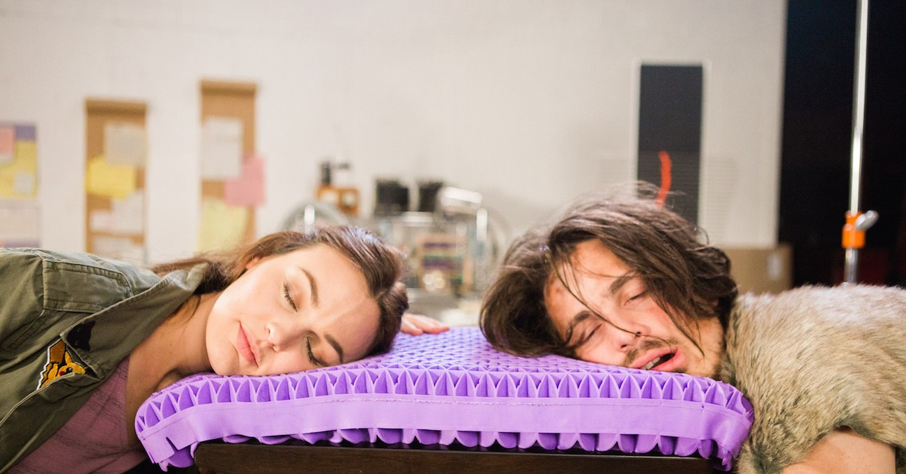 Purple® Pillow – The World's First No-Pressure Head Bed