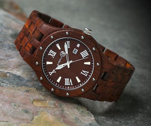 Real Stone and Organic Wood Earth Watches