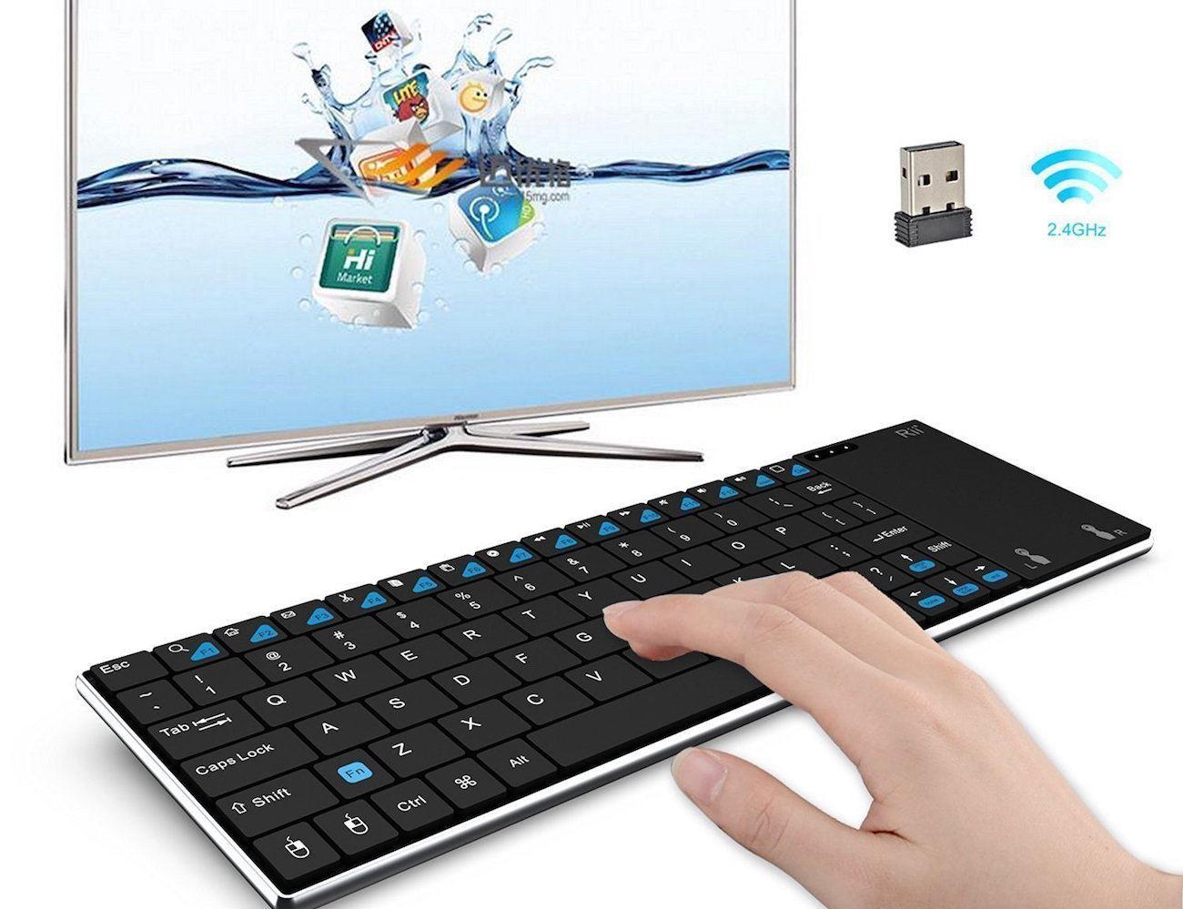 rii wireless handheld stainless keyboard gadget flow. Black Bedroom Furniture Sets. Home Design Ideas