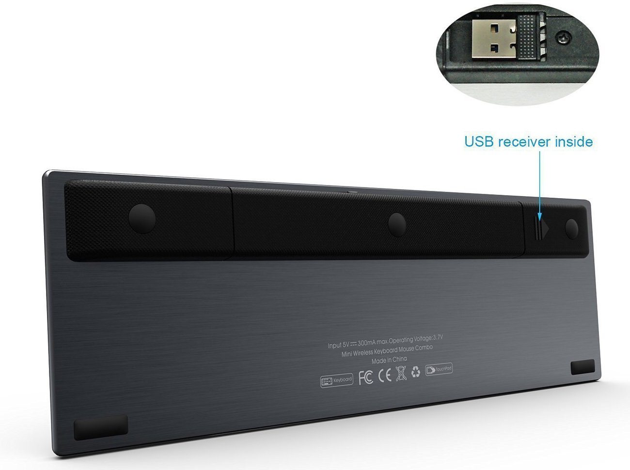 Rii Wireless Handheld Stainless Keyboard