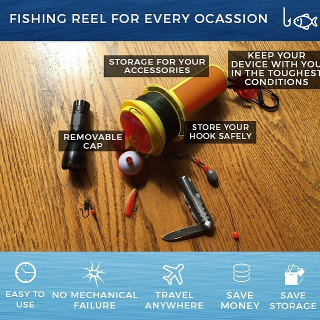 Rivers to Seas Travel Fishing Reel and Tackle Box in One!