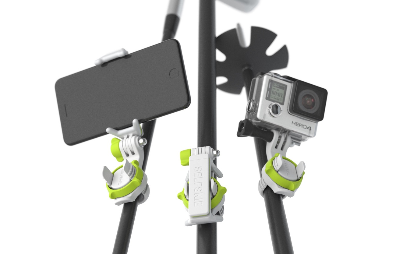 SELFSKIE – Attach Your Smartphone Or GoPro To Any Stick