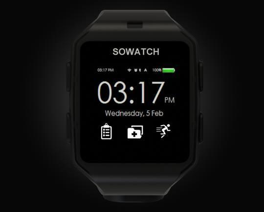 SOWATCH Autonomous Health Smartwatch