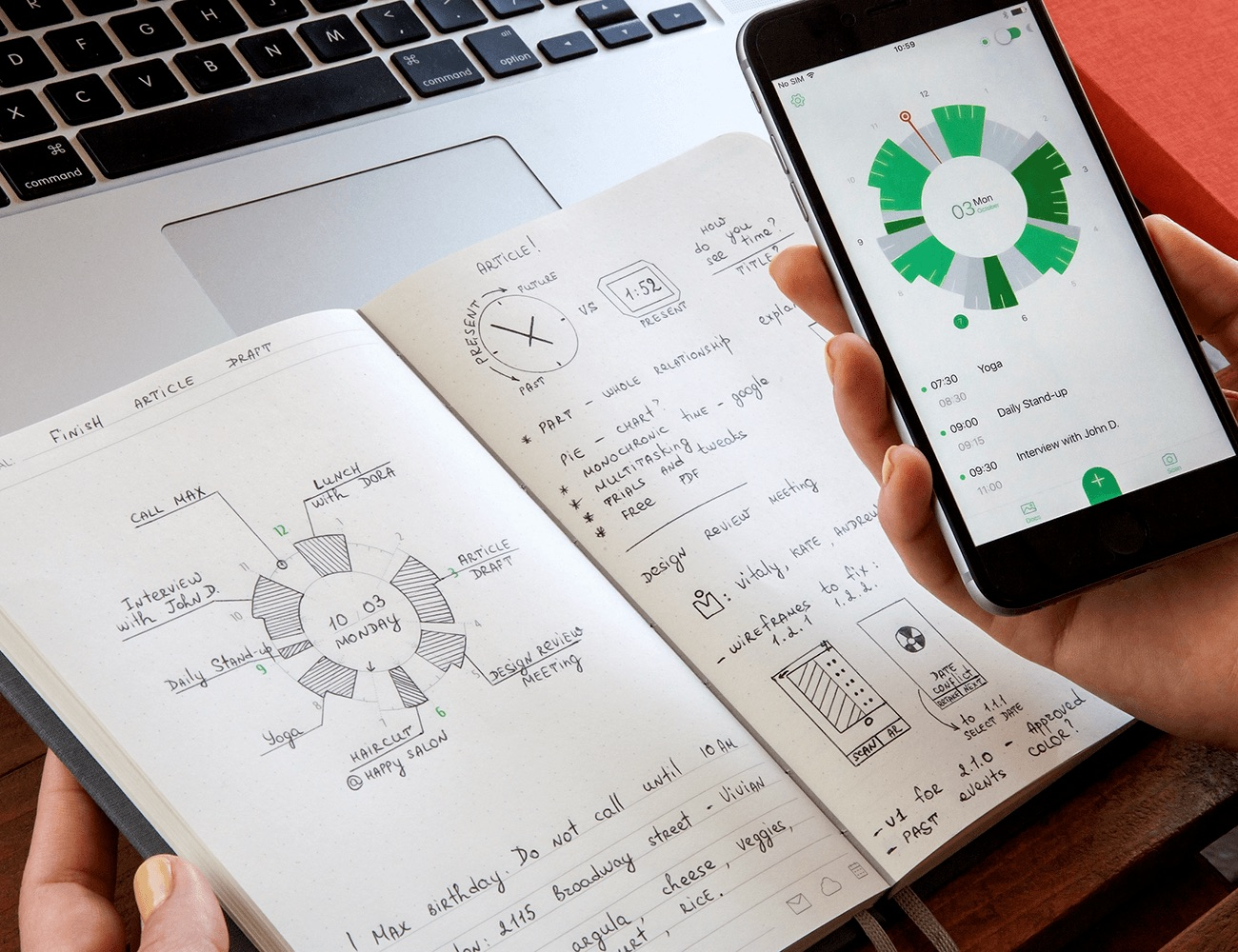 Slice Planner – First Notebook Connected to Digital Calendars