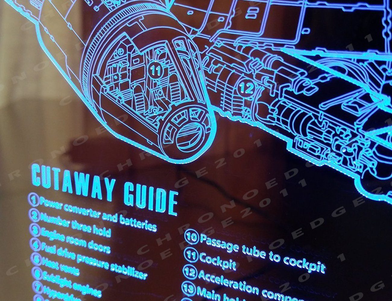 Star Wars Millennium Falcon Guide Lamp