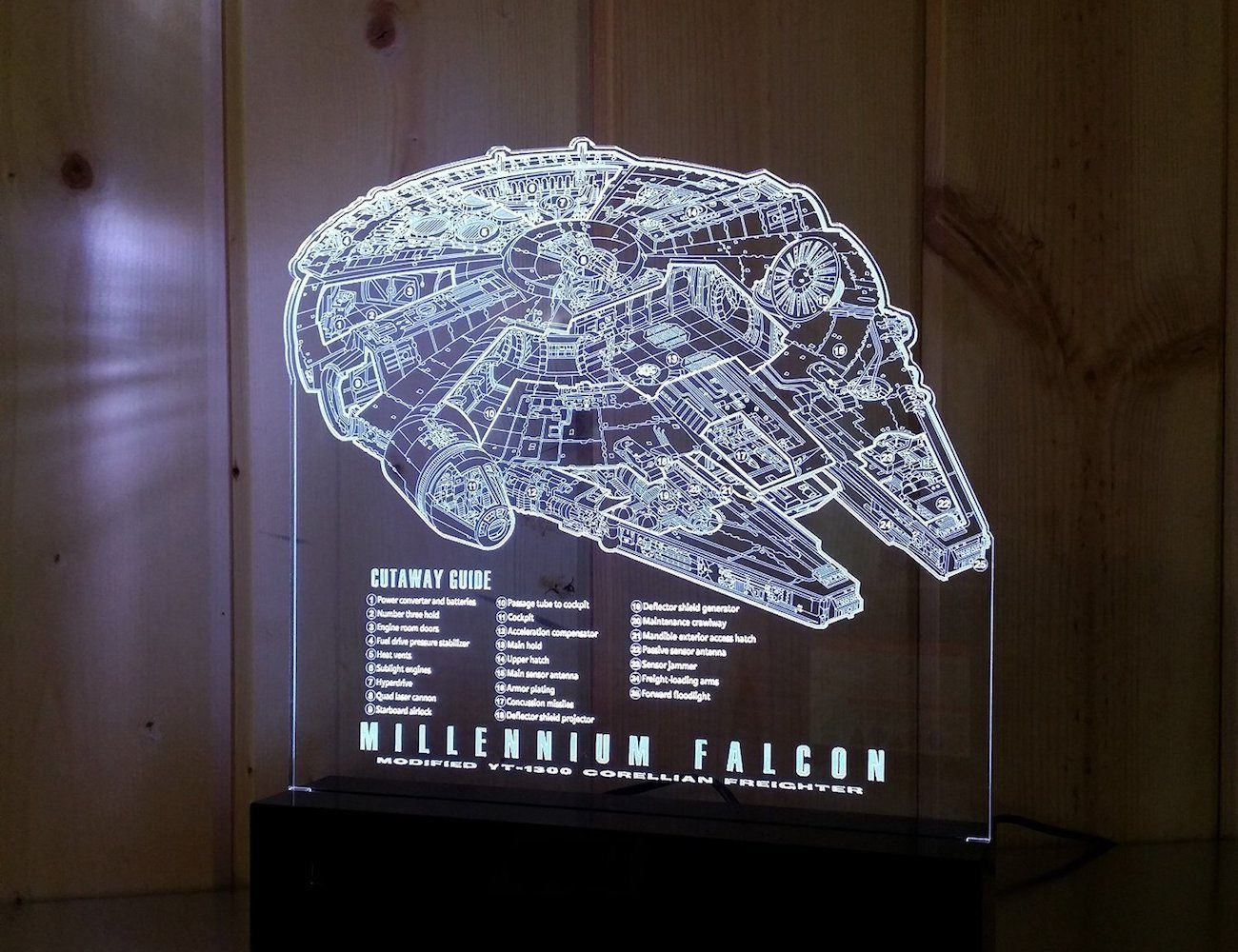 Star Wars Millennium Falcon Guide Lamp