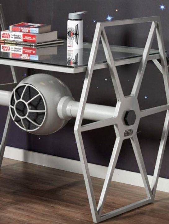 Star Wars Tie Fighter Gray Desk 187 Gadget Flow