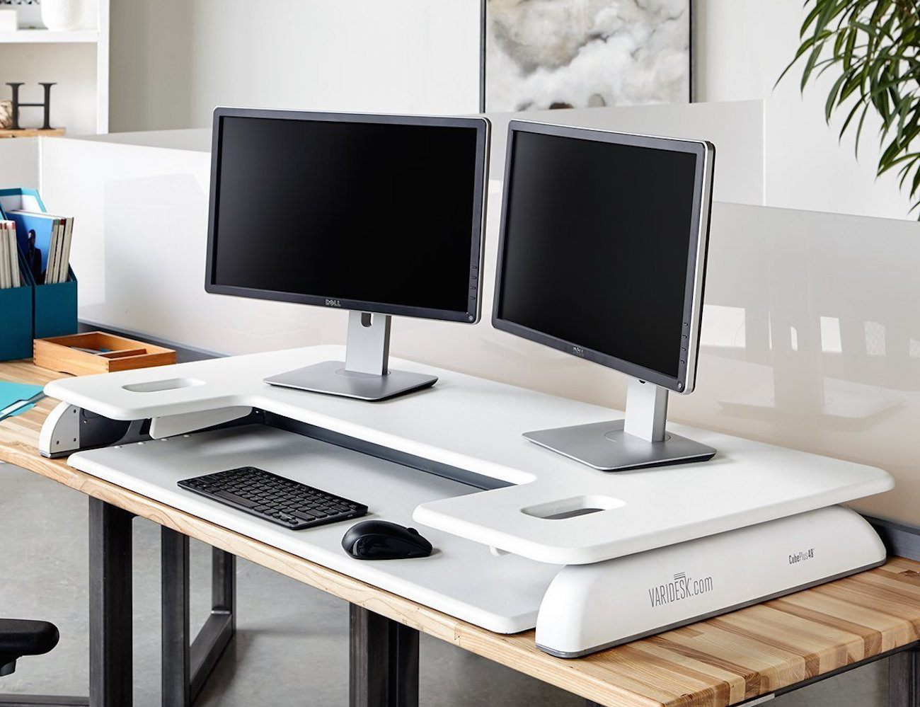 Varidesk Cube Plus 48 Height Adjustable Desk Review 187 The