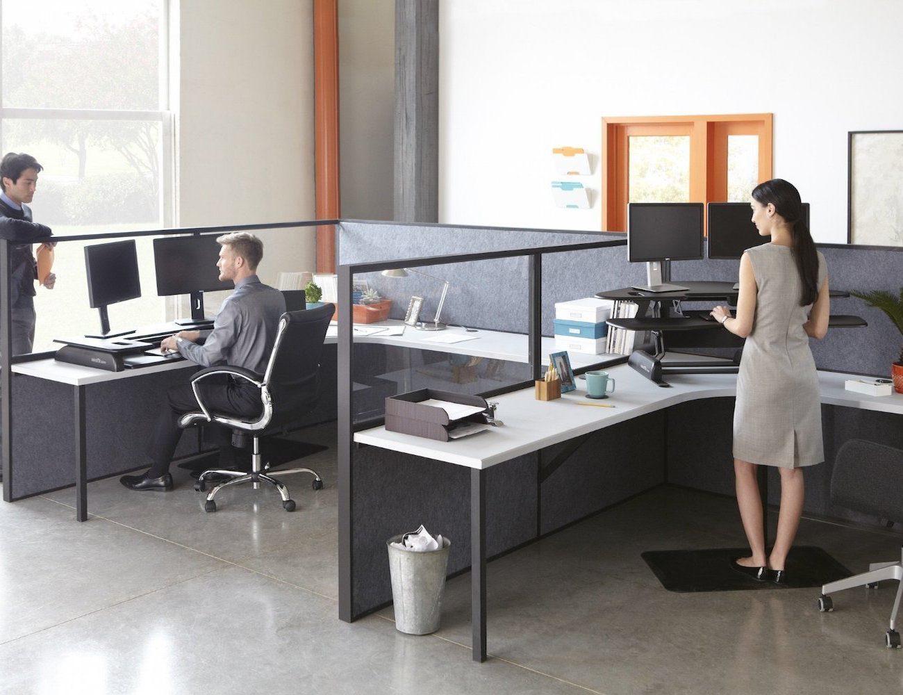 VARIDESK Cube Plus 48 Height-Adjustable Desk