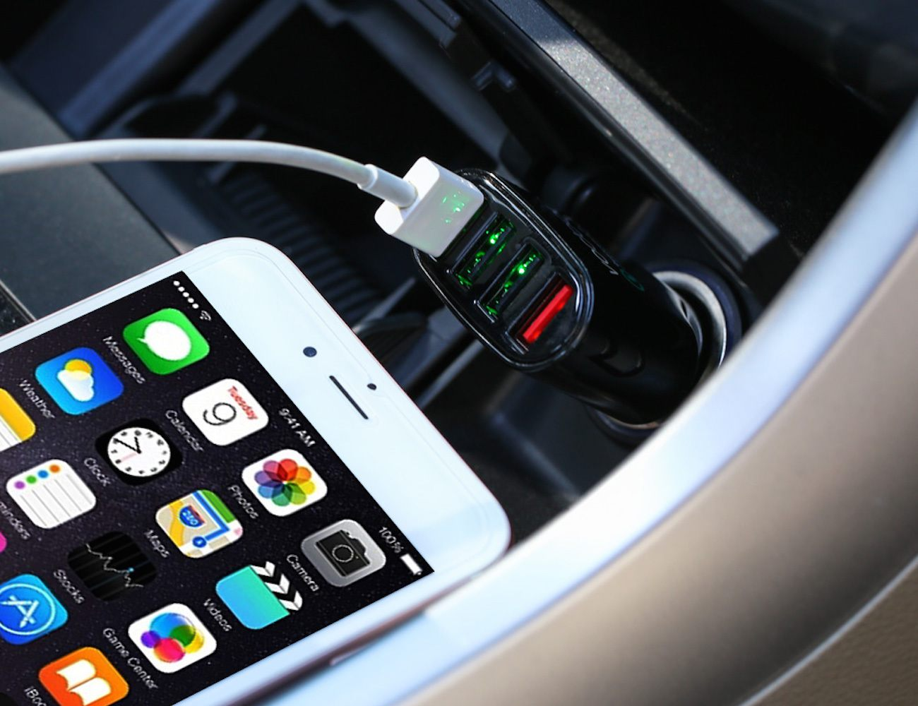 Vodool 54W USB 2.0 4-Port Universal Car Charger