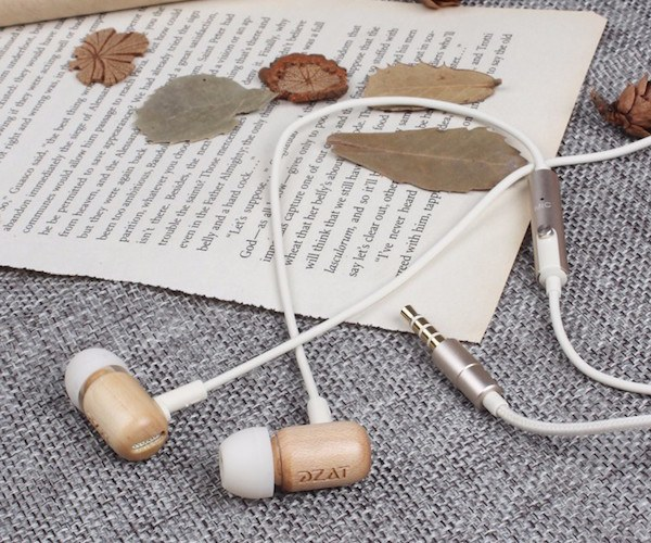 Wood Stereo Earbuds