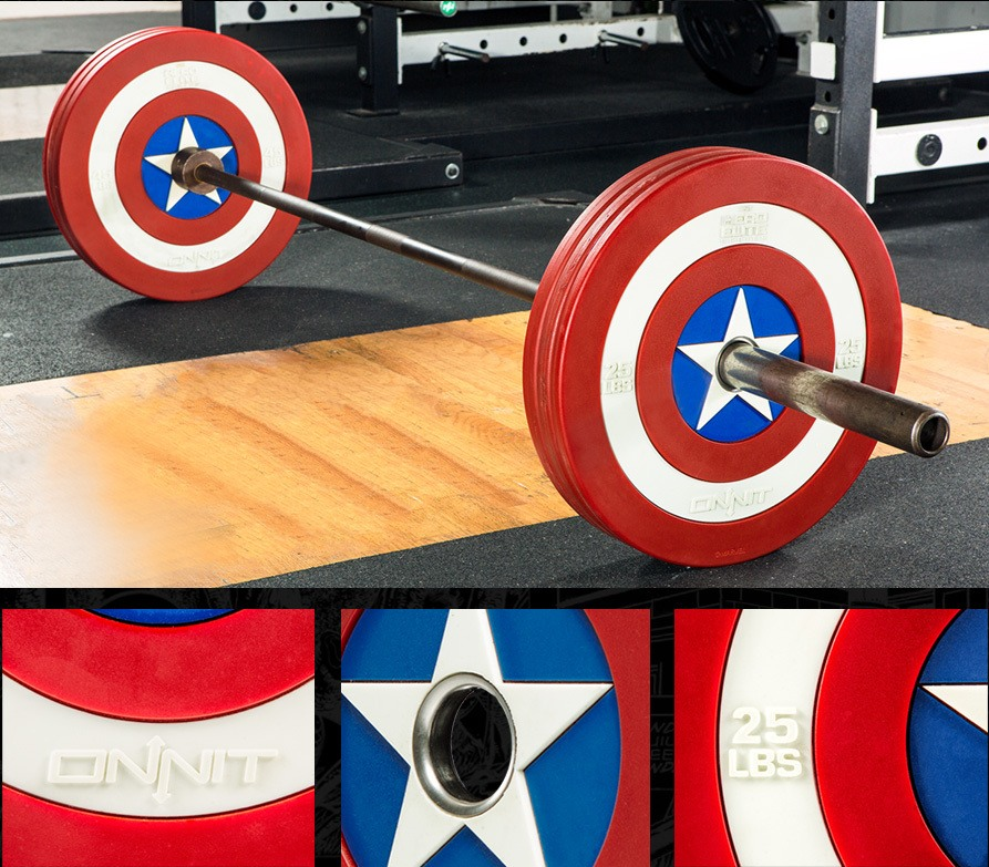 Captain America Shield Barbell Plates by Onnit