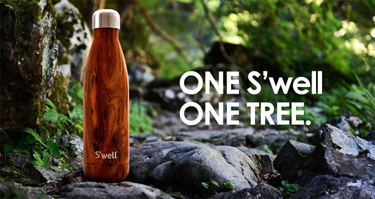 17-Ounce Teakwood Bottle by S'well
