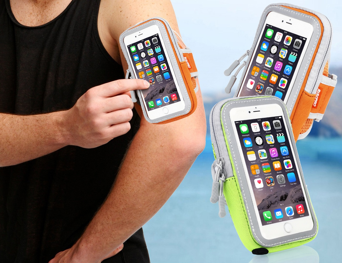 Sports Armband – Pack of Two Cases by RISEPRO