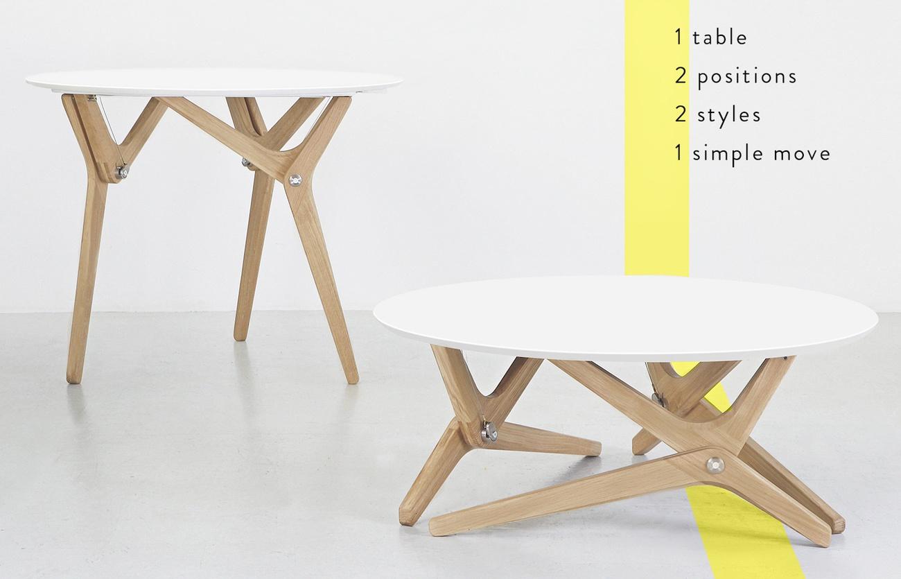 boulon blanc transformable table gadget flow. Black Bedroom Furniture Sets. Home Design Ideas