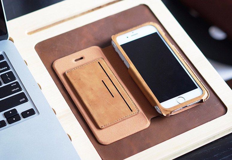 D-park Flip Leather iPhone Case With Card Slot