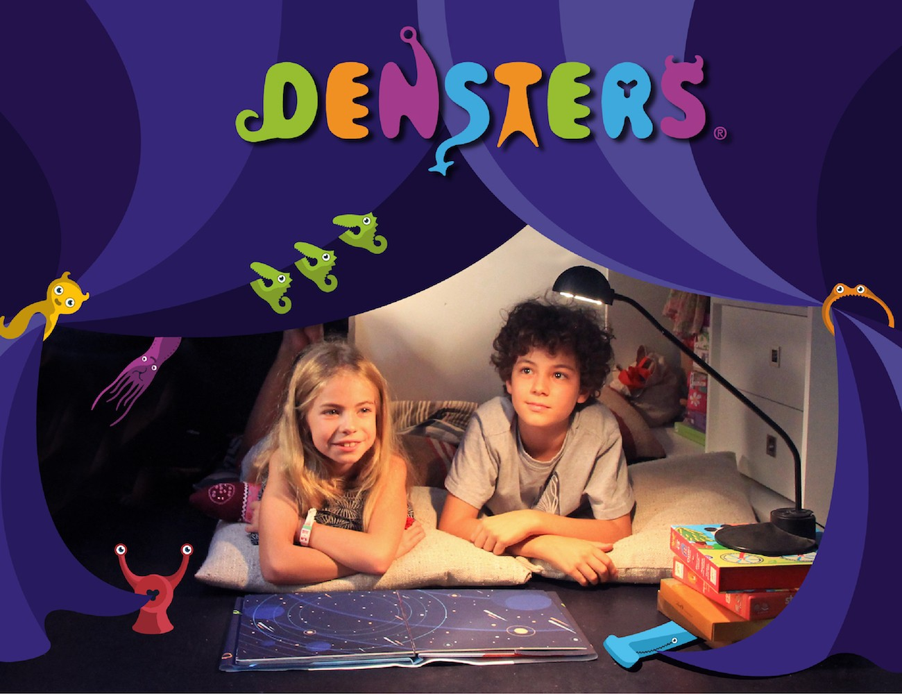 DENSTERS! Toy Monsters That Build Blanket Forts & Dens!