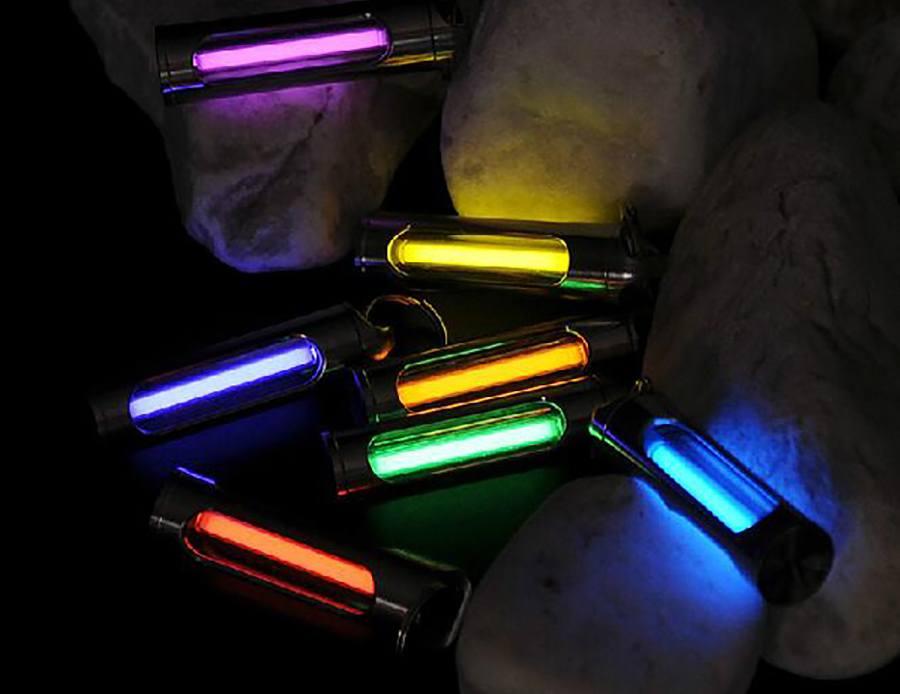 DaxLight Self-Luminous Titanium Keychain
