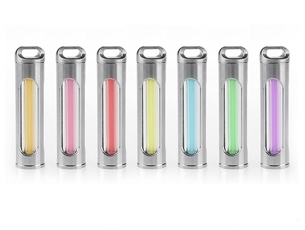 DaxLight Self-Luminous Titanium Keychain