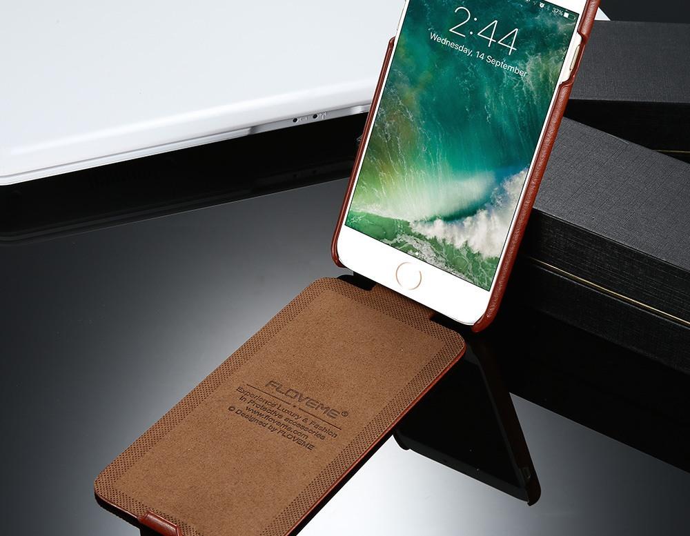 FLOVEME Vintage Flip Leather iPhone Case