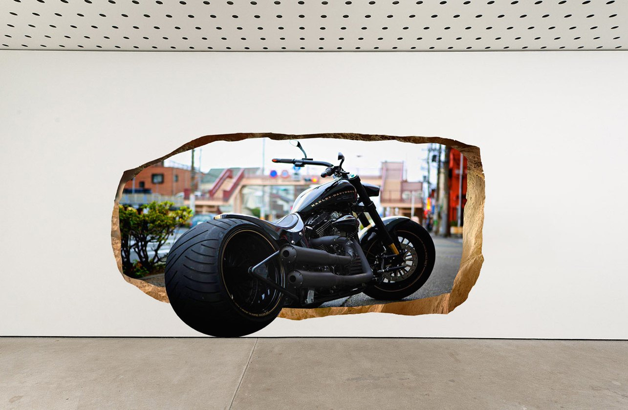 Startonight+Harley+Davidson+Glow-in-the-Dark+3D+Mural