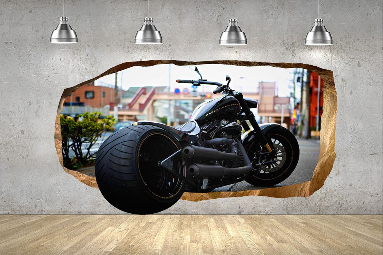 Startonight Harley Davidson Glow-in-the-Dark 3D Mural