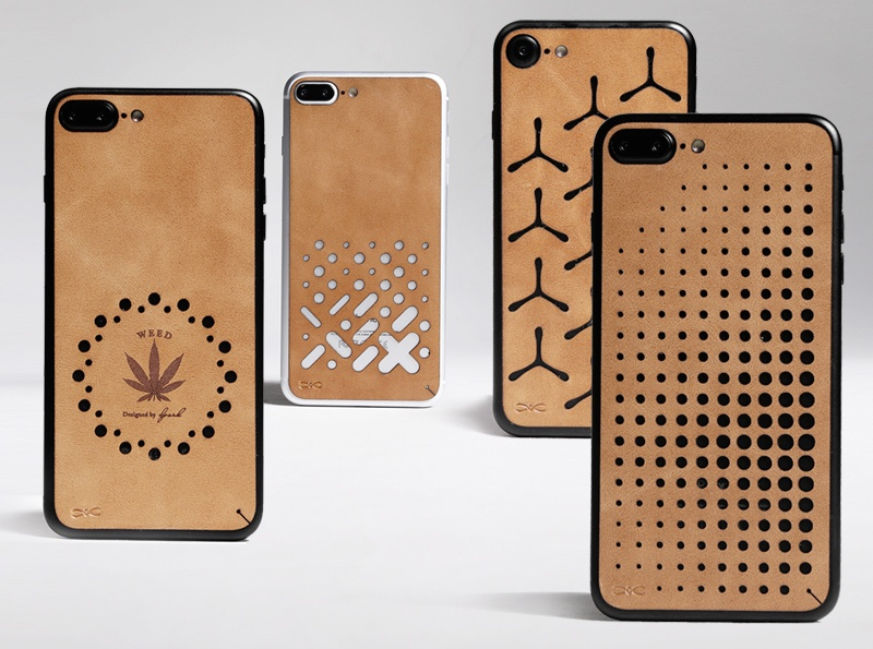 Hollow Out Back Skin Sticker for iPhone 7