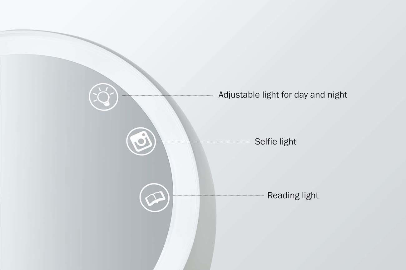 JUNO Adjustable Makeup Light Mirror