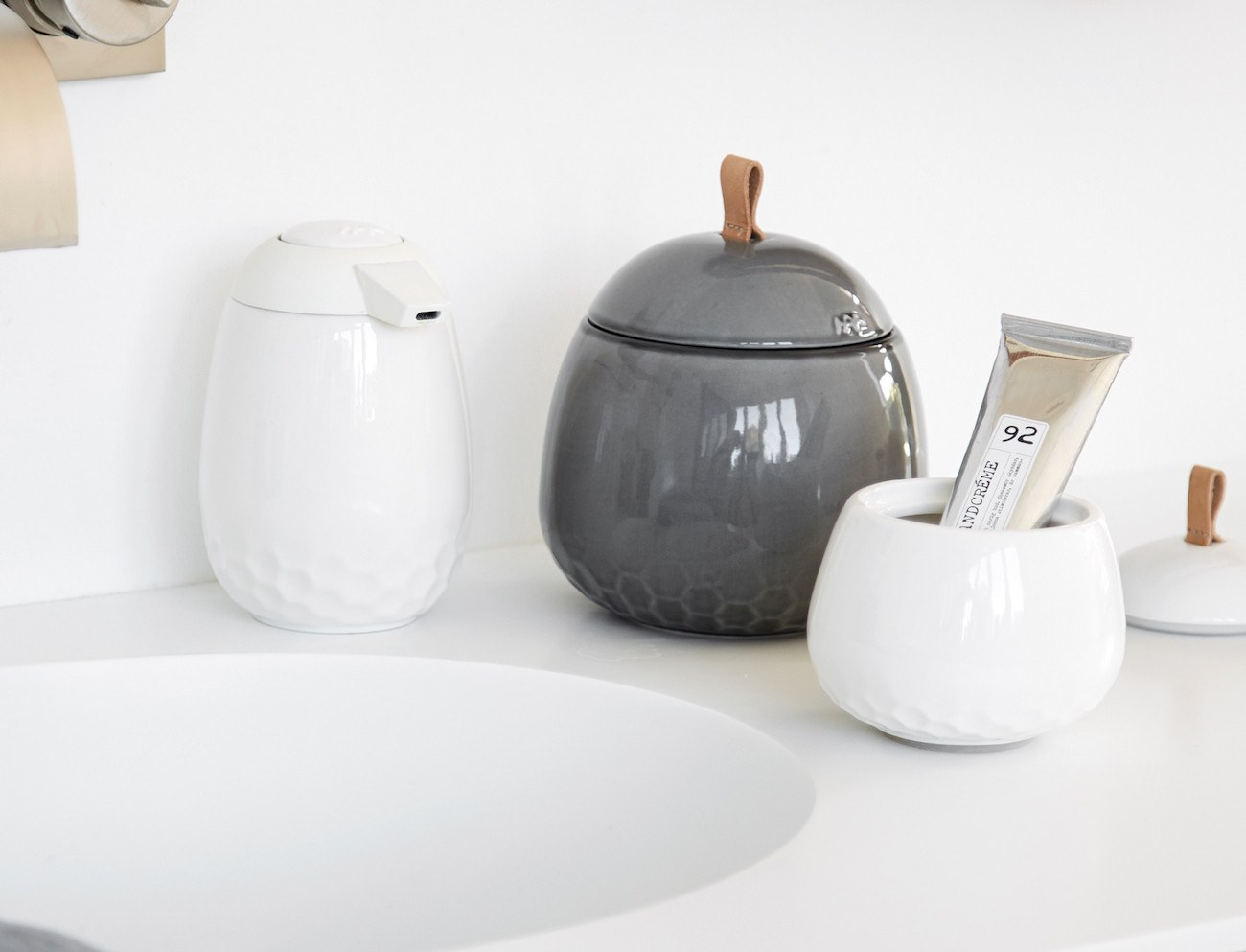 Kahler Mellibi Porcelain Bathroom Storage Jar