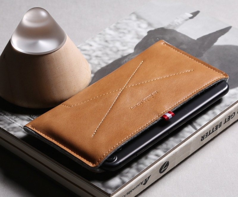 Leather & Wool Felt Wallet Case for iPhone 7