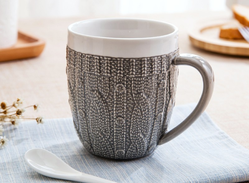 Porcelain Sweater Lace Coffee Mug