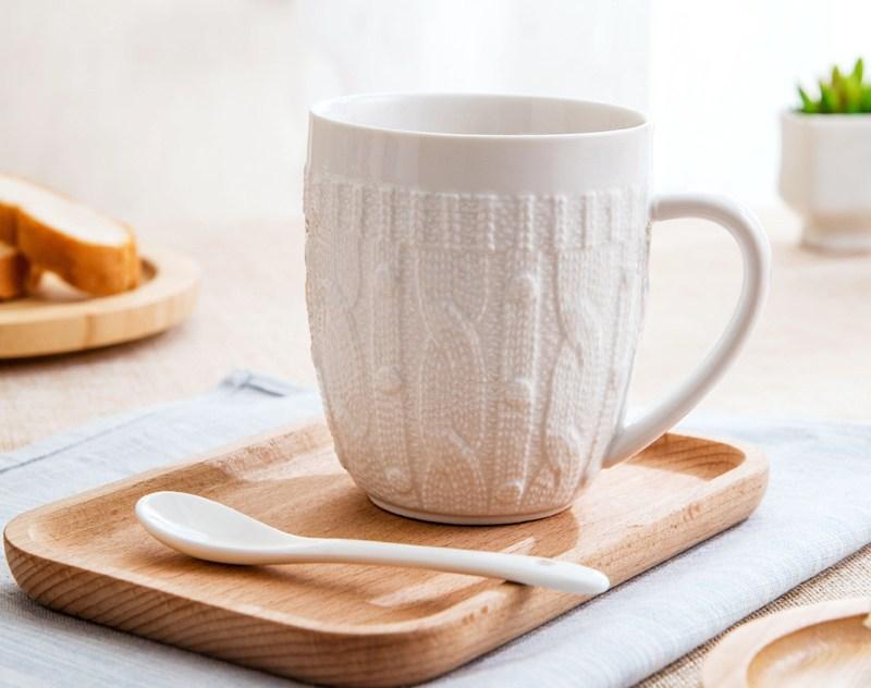 Porcelain Sweater Lace Coffee Mug