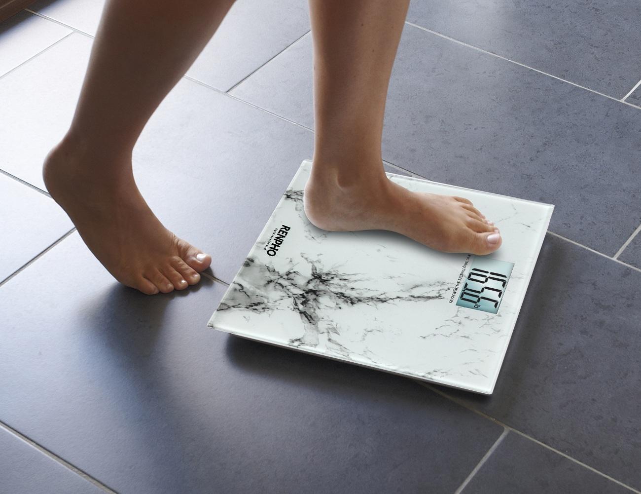 RENPHO Marble Pattern Digital Bathroom Scale