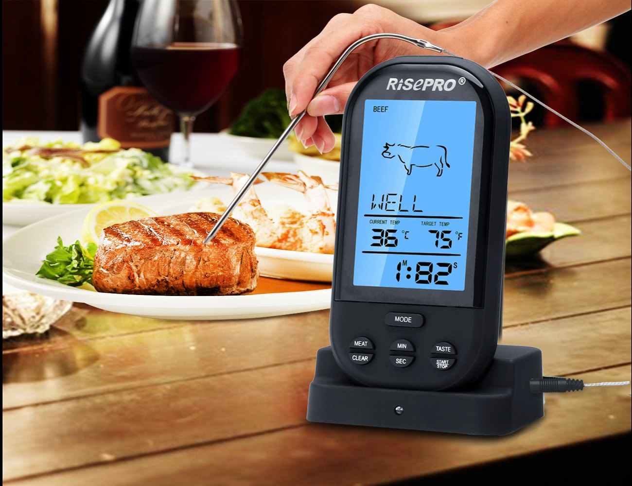 RISEPRO – Wireless Food Thermometer
