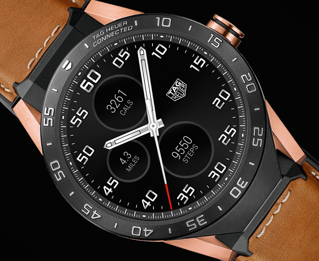 Rose Gold Connected Watch by Tag Heuer
