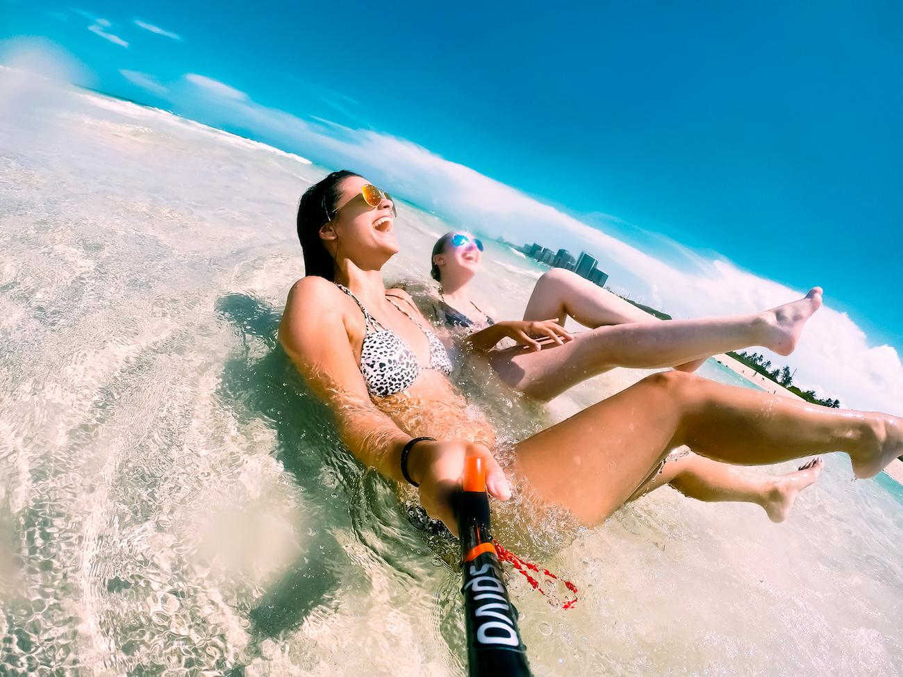 Spivo Rotating Selfie Stick for GoPro, Smartphones, and Compact Cameras
