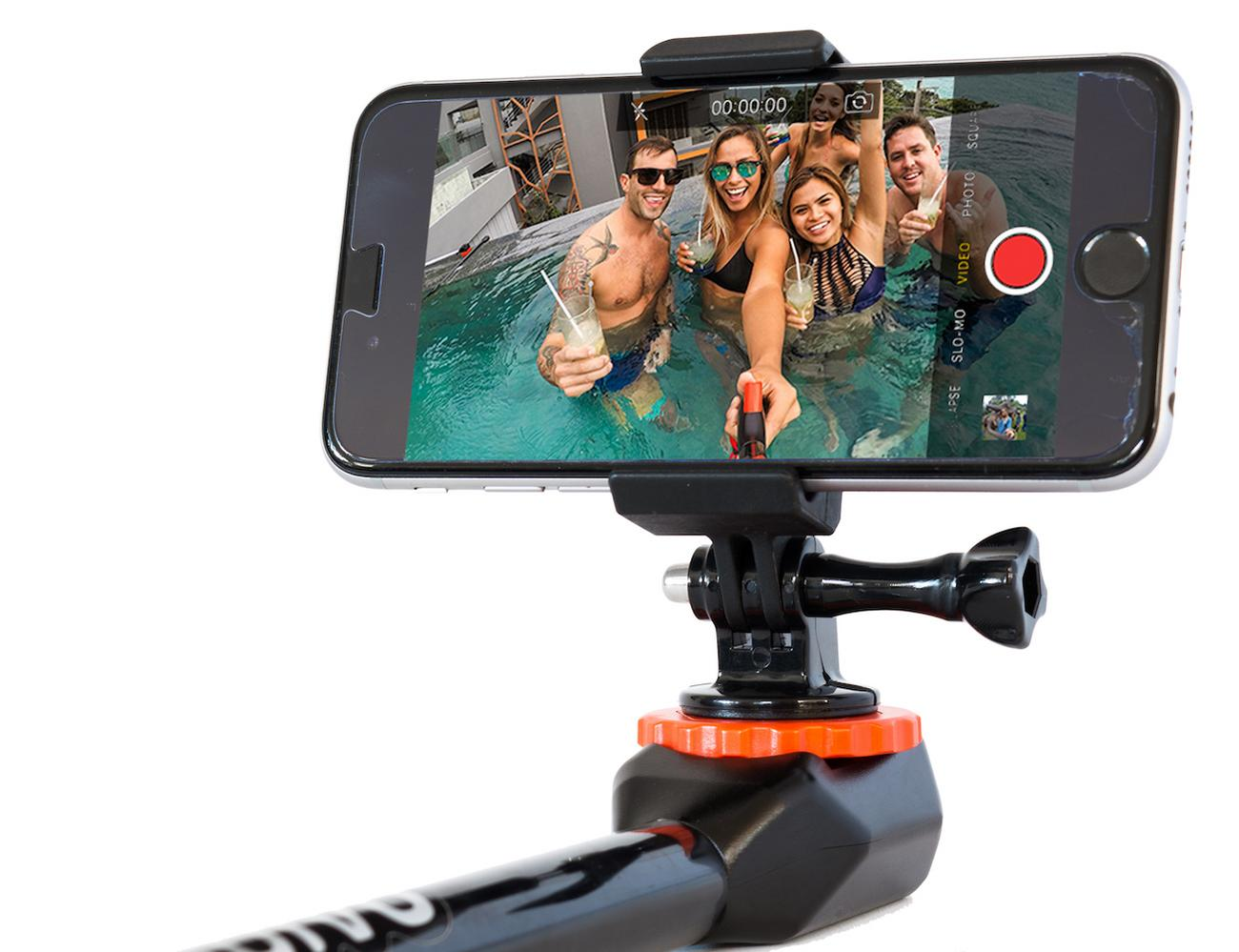 Spivo Rotating Selfie Stick For Gopro Smartphones And