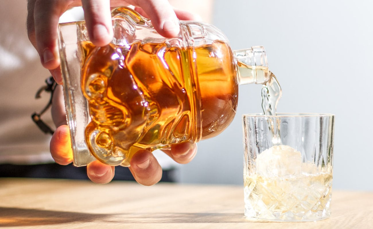 Stormtrooper Glass Decanter is modeled after the original helmet from the Empire