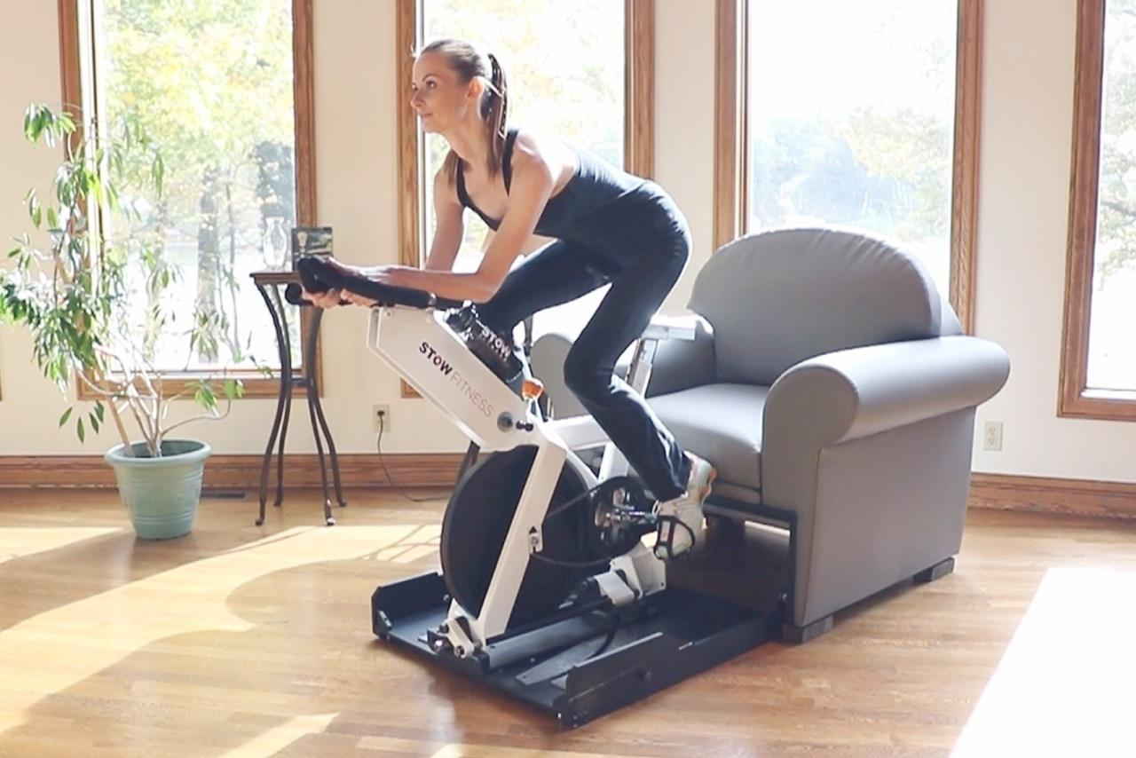 The Stow Fitness Chair Conceals Entire Workout Equipment