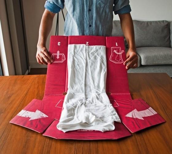 t-shirt folding system