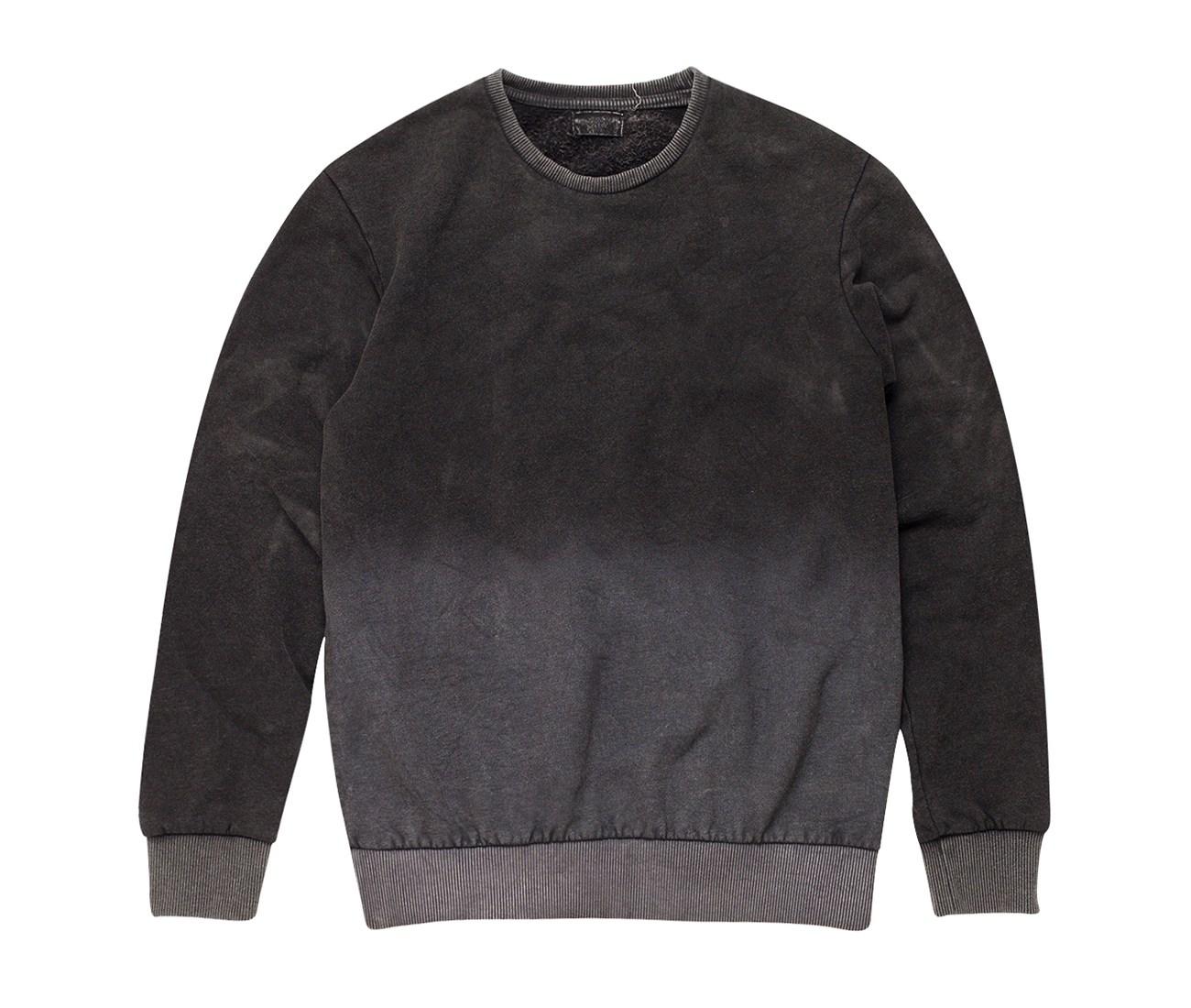 Dip Dye Black Cotton Sweatshirt by the Project Garments