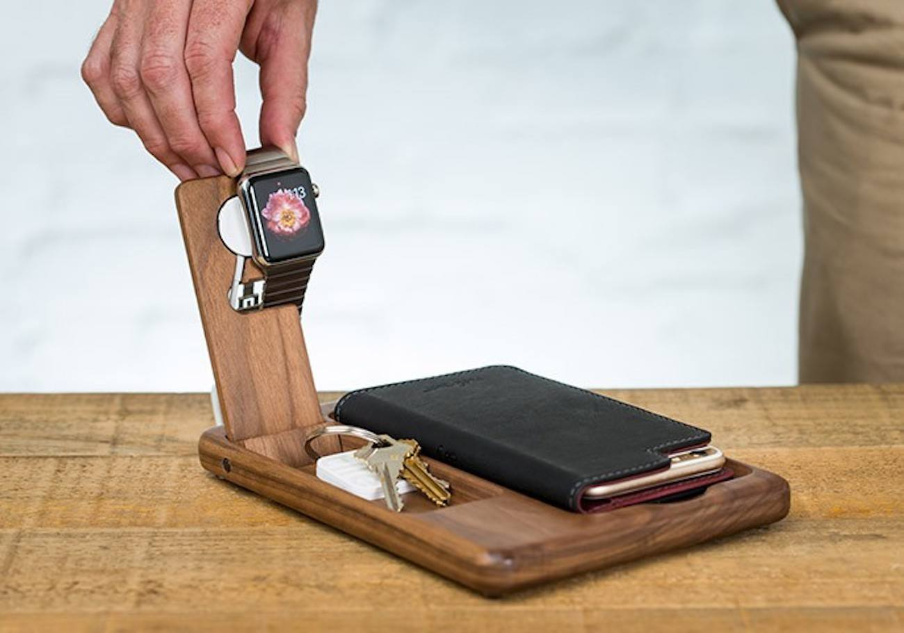 Timber Catchall Stand for Apple Watch