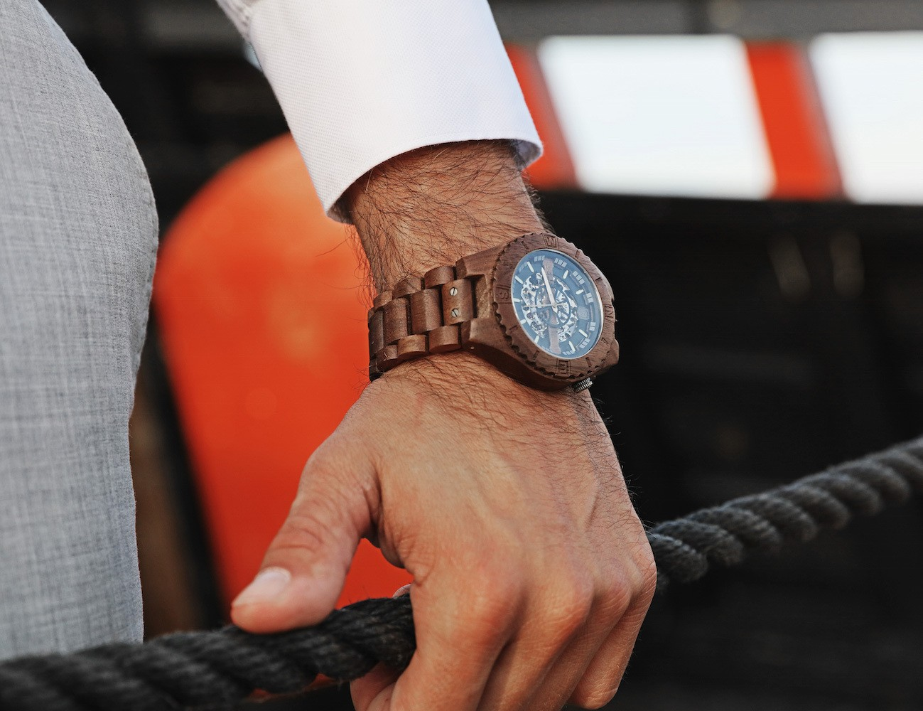 Troy+%26%238211%3B+Handcrafted+Wood+Watch+With+Visible+Skeleton