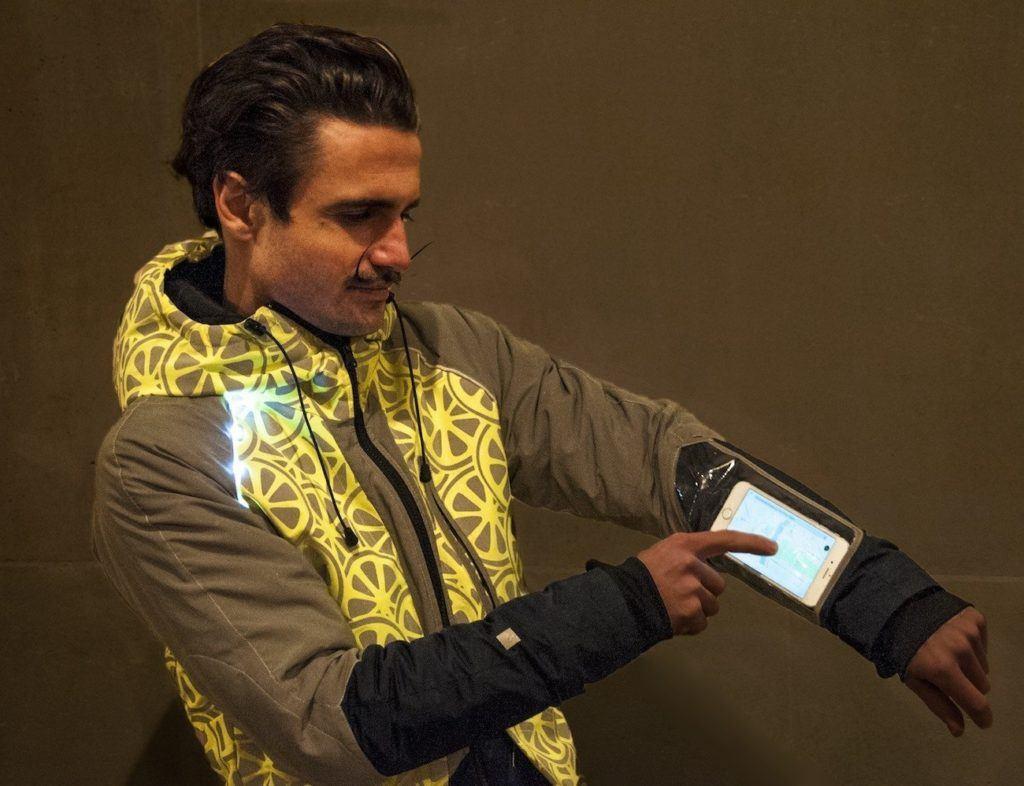 jacket with GPS pocket
