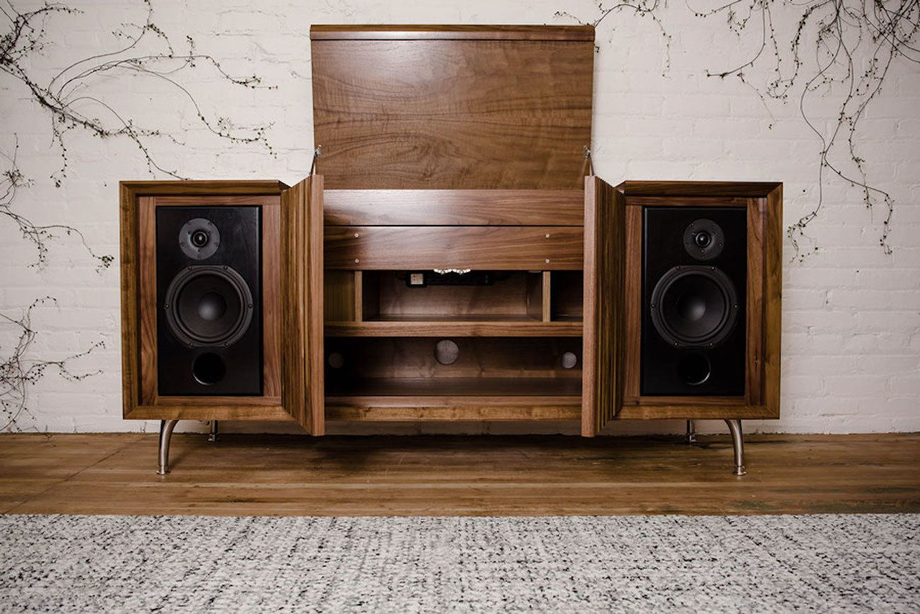 Wrensilva standard one record console review the gadget flow for Mueble equipo hifi