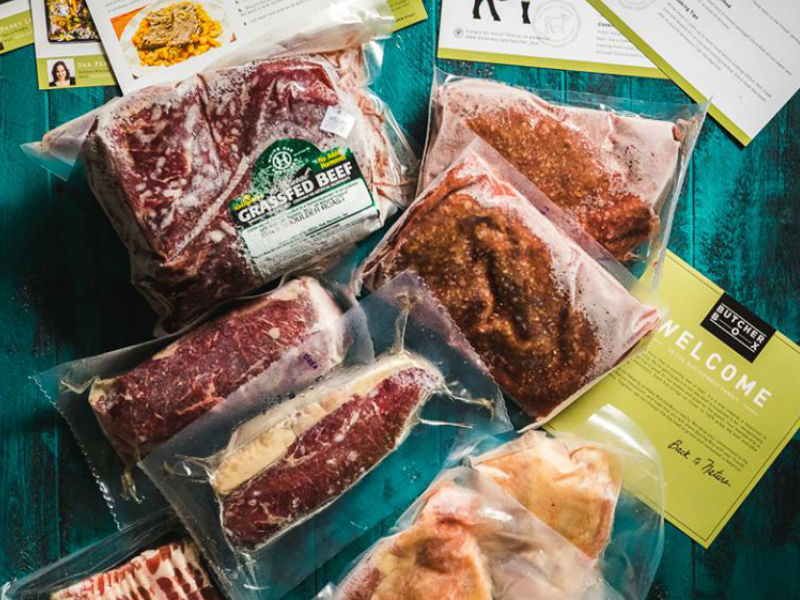 Get 100% natural grass fed meat at Butcherbox